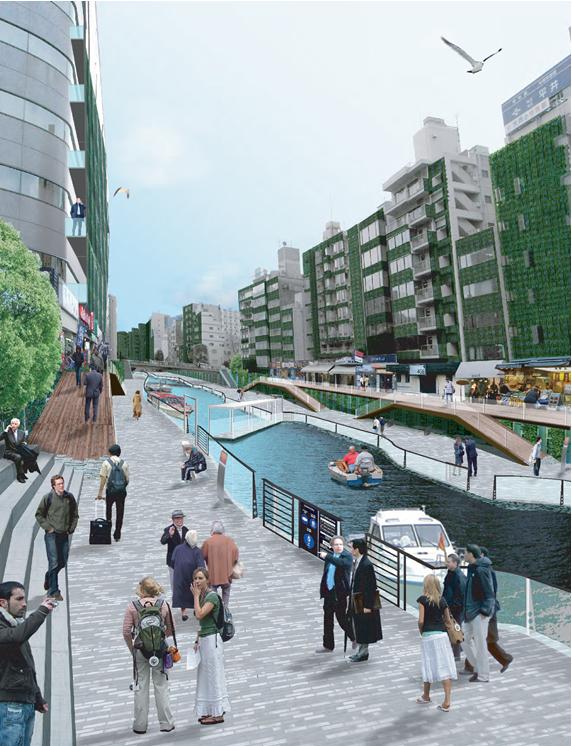 亀島川の水辺再生提案
