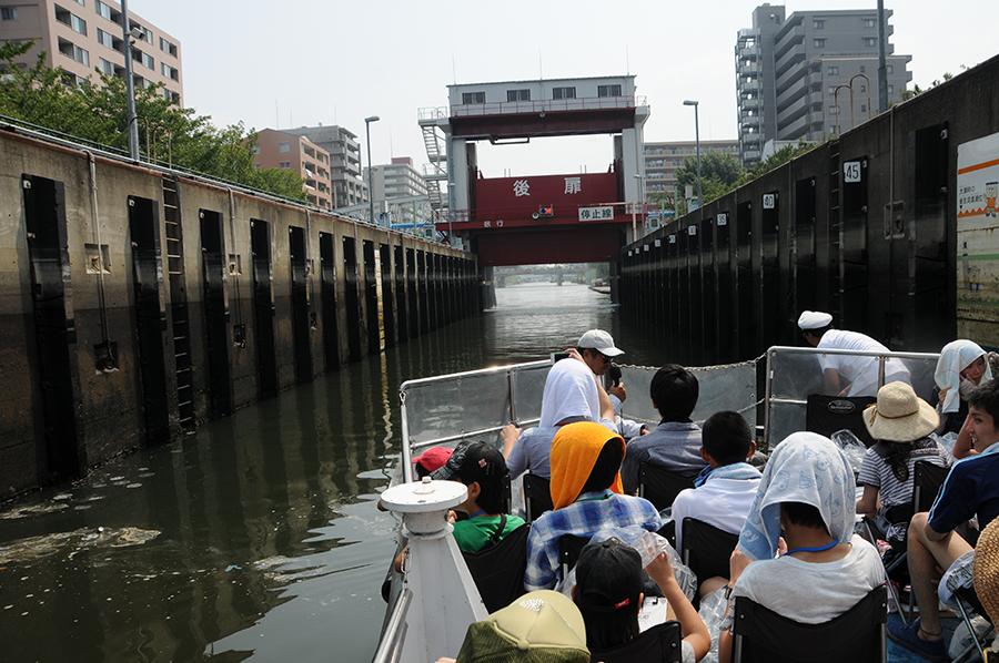 2013年 わくわく・すいすい「水辺探検」 扇橋閘門