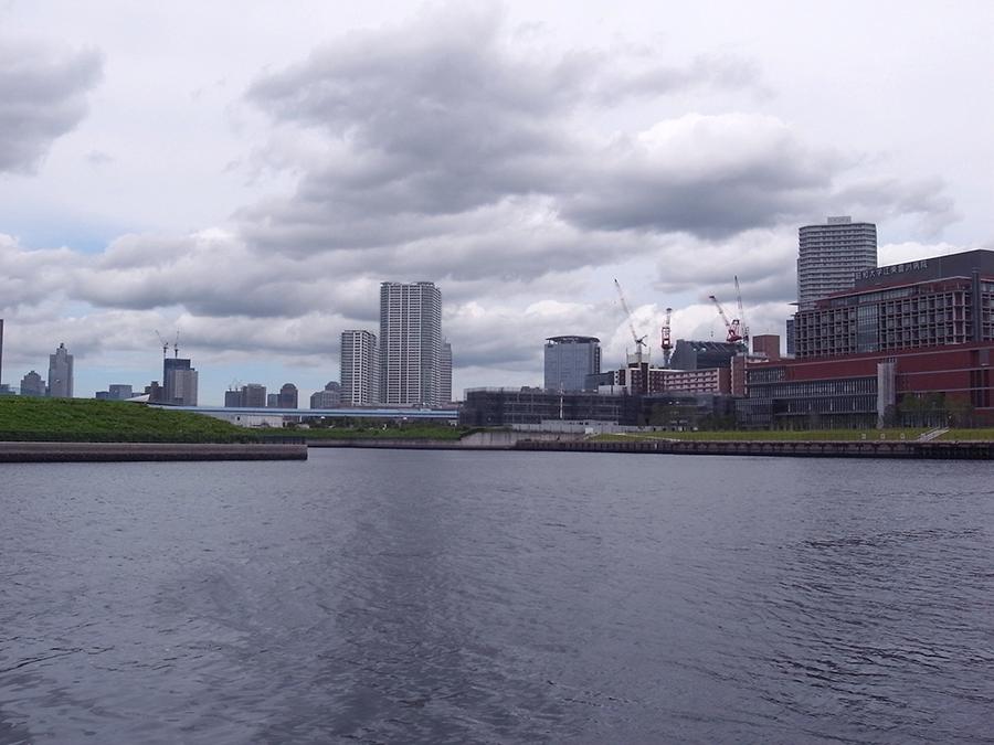 江東運河の入り江