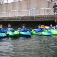 亀島川を活用した「カヌー・カヤック教室」